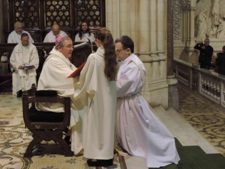 Bishop William Crean ordaining Patrick O'Donoghue to the priesthood.
