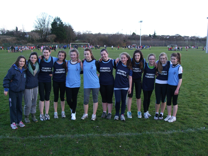 Athletes from St Marys Girls Secondary School Charleville who took part in the Cork Open Schools.